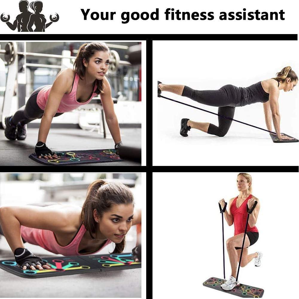 Tabla de Flexiones Ancocs Tabla de entrenamiento 13 en 1 para entrenamiento de fuerza en casa, con mango para flexiones, plegable multifuncional Push ...