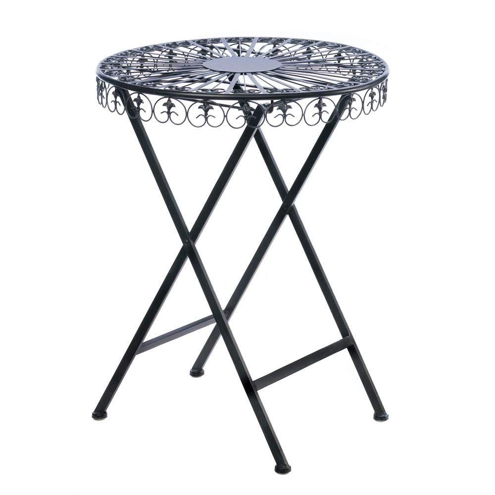 Star 28'' High Patio Outdoor Iron Garden Table Furniture Home Decor