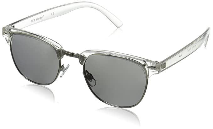6e04273d0b1 Amazon.com: A.J. Morgan Soho Square Sunglasses, Crystal, 52 mm: Clothing
