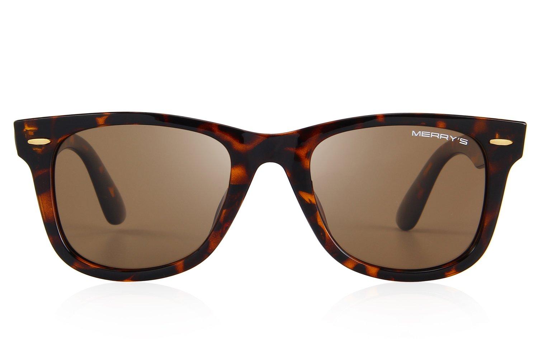 1b81298242 MERRY S Retro Rivet Polarized Sunglasses for Men 80 s Classic Women Sun  glasses S8140 (Leopard
