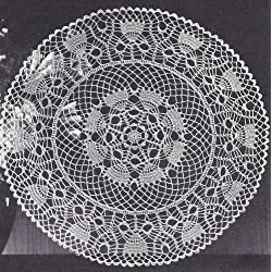 Vintage Crochet PATTERN to make -Doily Centerpiece Mat Thistledown Design. NOT a finished item. This is a pattern and/or instructions to make the item only.