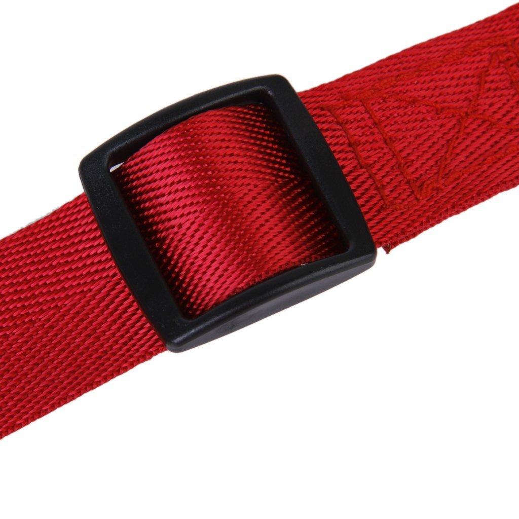 rojo Cinturon ajustable de seguridad para coche accesorio para perros SODIAL R