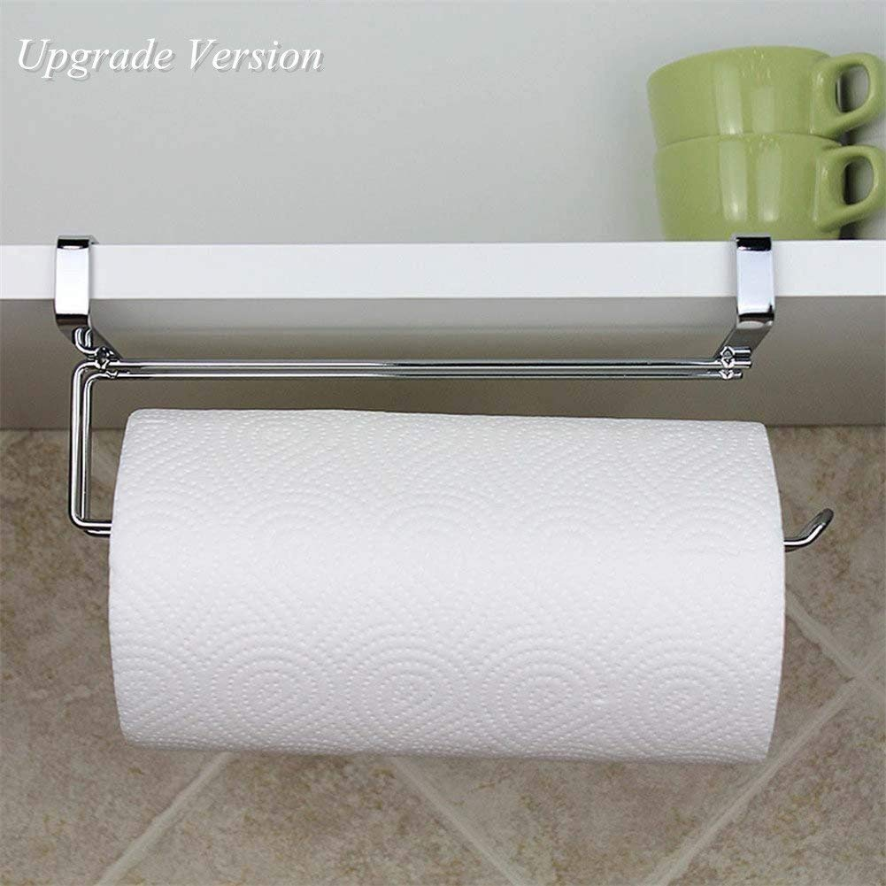 Pano Updated Size Paper Towel Holder Under Cabinet Stainless Steel Paper Rolls Rack Organizer 11.8'' x 2.7'' x 3.54''