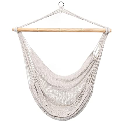 Amazon.com: Finether Mesh Hammock Chair Swing, Netted Swing Chair Swing  Seat Rope Hanging Chair For Any Indoor Or Outdoor Spaces, 300 Lbs Weight  Capacity ...