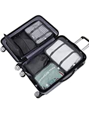 Packing Cubes, Travel 7 Set Luggage Organizer with Laundry Bag, Shoe Bag, Cosmetic Bag, Zippered Bag, Luggage Compression Pouches, Waterproof and Rip Resistance