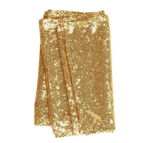 Gold wedding centerpieces amazon lings moment sparkly sequin table runner gold 12 x 108 inch hem edge for thanksgiving christmas wedding engagement party bridal baby shower dresser junglespirit Gallery