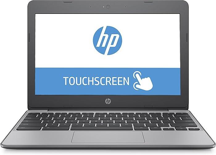 HP 11.6in 11-v020nr HD IPS Gorilla Glass Touchscreen Chromebook, Intel Celeron N3060 Dual-Core, 4GB DDR3, 16GB SSD, 802.11ac, Bluetooth, Chrome OS (Renewed)