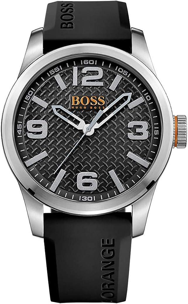 Hugo Boss 1513350 Orange - Reloj analógico de pulsera para hombre, correa de silicona