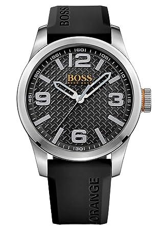 c875e2487a3a Hugo Boss Orange Homme Analogique Quartz Montres bracelet avec bracelet en  Silicone - 1513350
