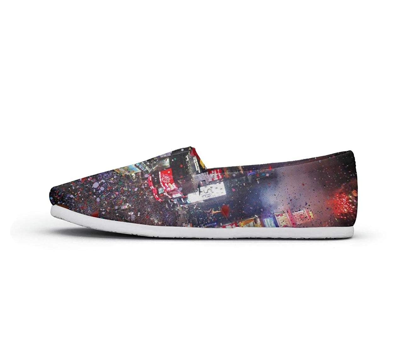 nkfbx New York City Times Square Travel Fashion Slip-On Sneakers for Girls Walking