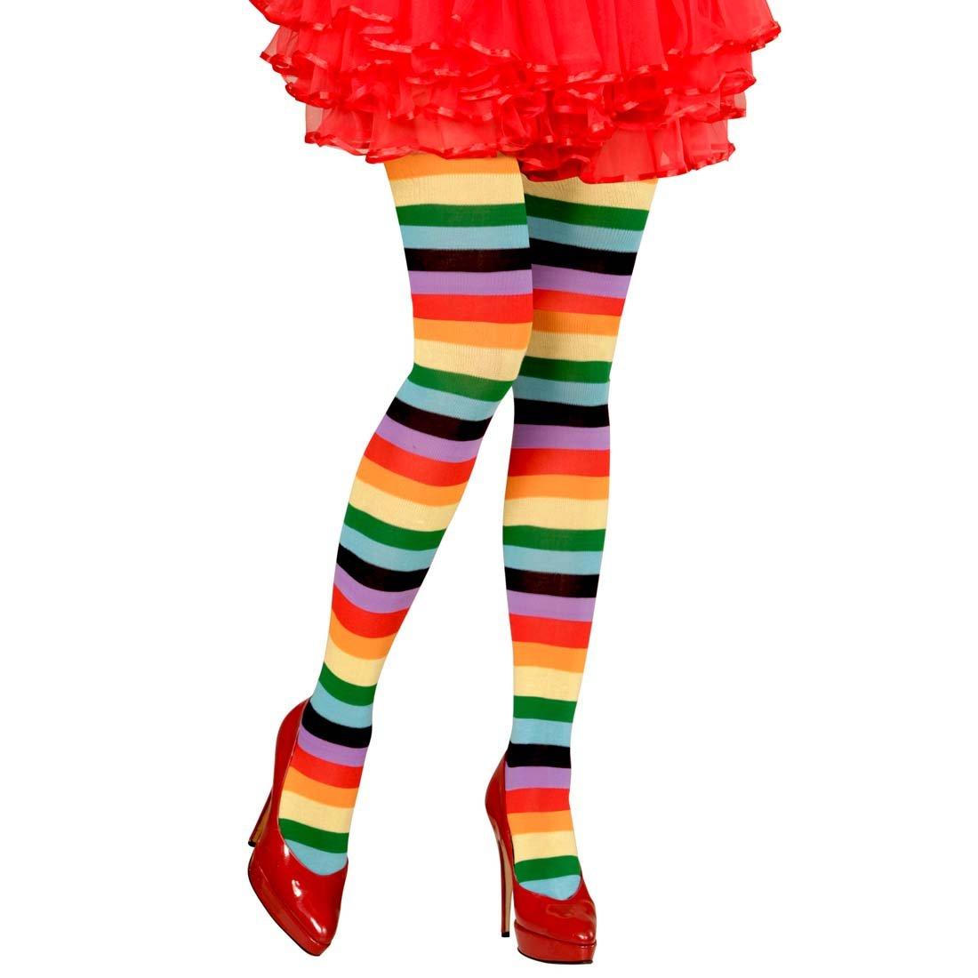 Calzamaglia a righe Collant arcobaleno colorate - Calzette da donna a cerchi Pantacalze da donna multicolore Leggings di nylon femminili Pantacollant sottili NET TOYS
