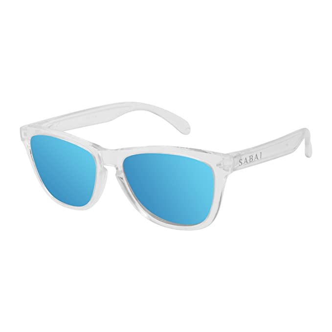 SABAI Eternal - Gafas de Sol Polarizadas Marco Cristal Lente Azul: Amazon.es: Ropa y accesorios