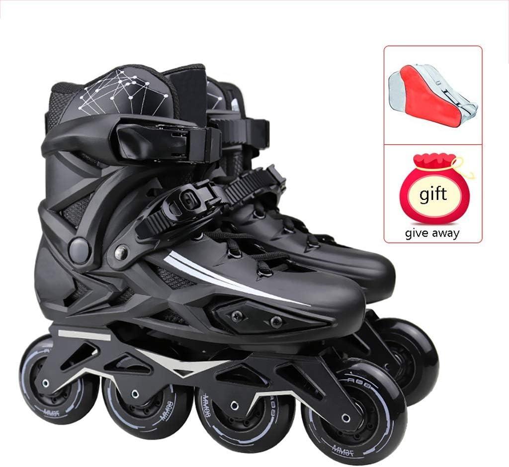 Inline Skates Adult Outdoor Black Professional Inline Speed Skates for Men and Women Skates Single Row Roller Skates for Beginner