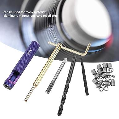 1.0 2D Juego de reparaci/ón de insertos roscados 304 Juego de herramientas de instalaci/ón de inserto de alambre de acero inoxidable tipo helicoidal M7