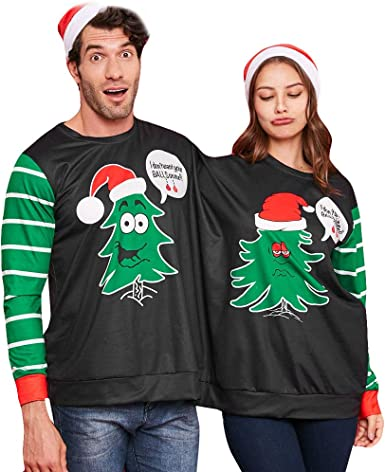 : Forthery Men Women Two Person Ugly Christmas