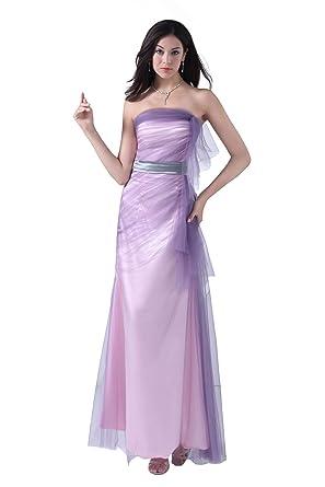 c60c4b88a9507 可愛いカラードレス 紫 パーティー ドレス パープル ロングドレス 安い フォーマルドレス レディース 結婚式 ドレス