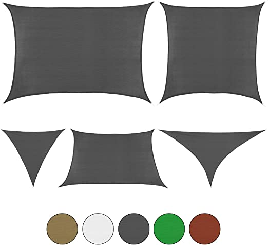 BB Sport Tenda Velo Sole 2m x 3m Cappuccino Vela Sole Ombreggiante HDPE Protezione Solare UV 90/% Parasole Giardino Esterni