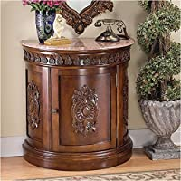 Design Toscano Grand Medallion Crescent Console Table