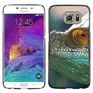 LECELL--Funda protectora / Cubierta / Piel For Samsung Galaxy S6 -- Camaleón verde --