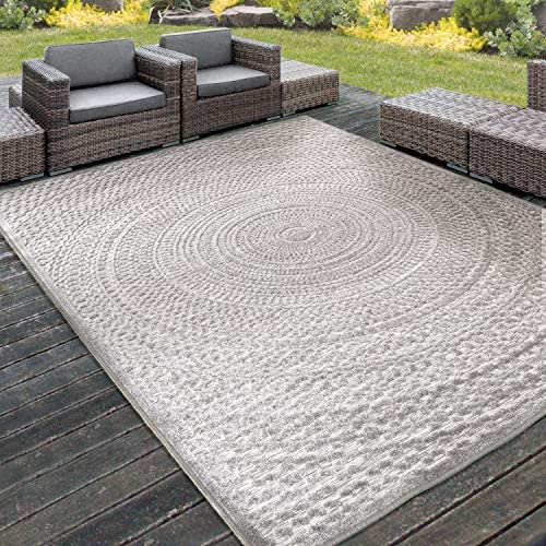 Orian Rugs Boucle High-Low Indoor Outdoor Cerulean Area Rug, 6 6 x 9 6 , Silverton