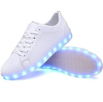 新モデル 11パターン 七色 レインボー に 光る イルミネーション LED スニーカー 男女兼用 ( 選べる 単色