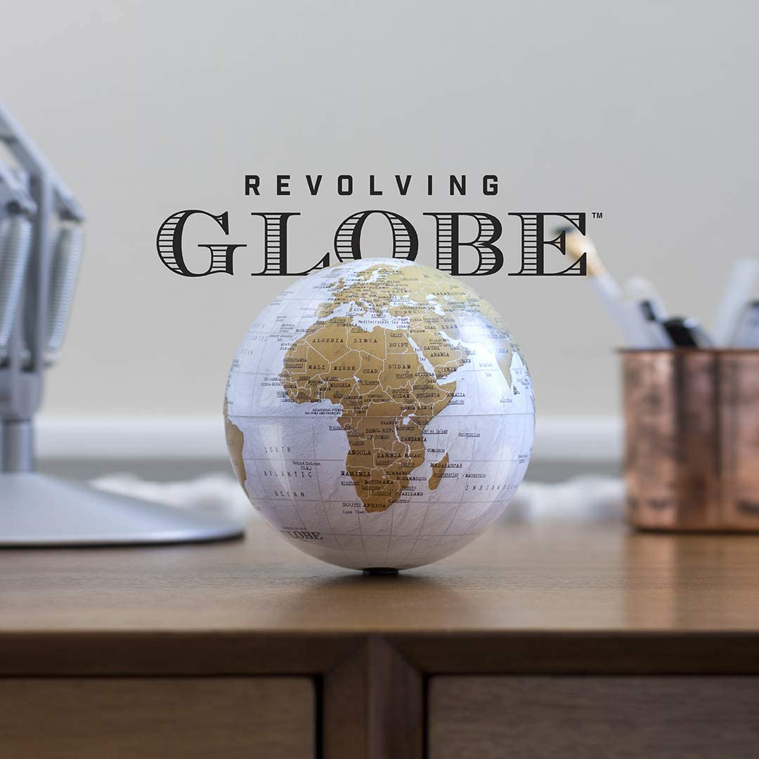 Revolving Globe Spinning Earth Globe Self Rotating Map of The World Cool Office Desk Accessories