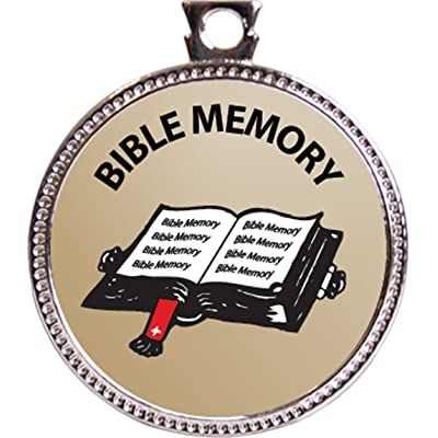 """Bible Memory - General Award, 1 inch dia Silver Medal """"Bible Memory Achievements Collection"""" by Keepsake Awards: Toys & Games"""