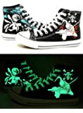 One Piece Anime Zoro Sanji Cosplay Shoes Canvas Shoes Sneakers Luminous 3 Choices