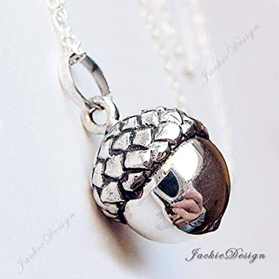 17mm Acorn Lucky Harmony Ball Sterling Silver Bola Pregnancy Necklace 36