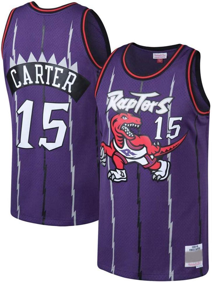 YSA Camiseta de Hombre y Mujer - Toronto Raptors 15# Carter Jerseys Jersey de Baloncesto Bordado Transpirable Swingman: Amazon.es: Deportes y aire libre