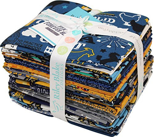 FFA Forever Blue 21 Fat Quarters Riley Blake Designs FQ-7210-21 by Riley Blake Designs