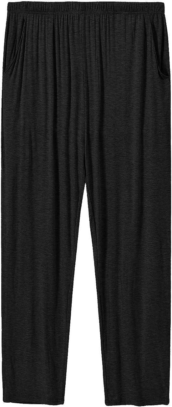 MoFiz Men's Modal PJ Bottom Jersey Knit Pajama Pants/Lounge Pants/Sleepwear Pants