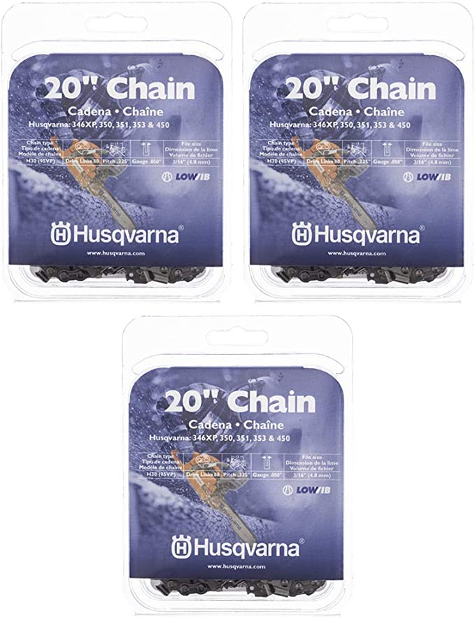 """CHAINSAW BAR CHAIN 20/"""" .325 PITCH JONSERED 2200435 450 AND MORE  HLN 250-80"""