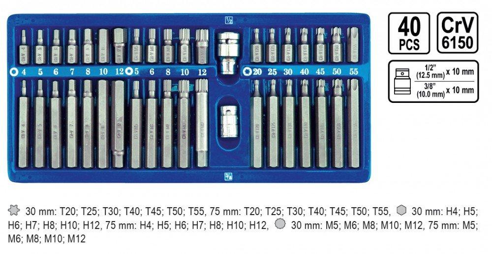 set di punte per cacciavite a brugola 40 pezzi Vorel-attacco torx