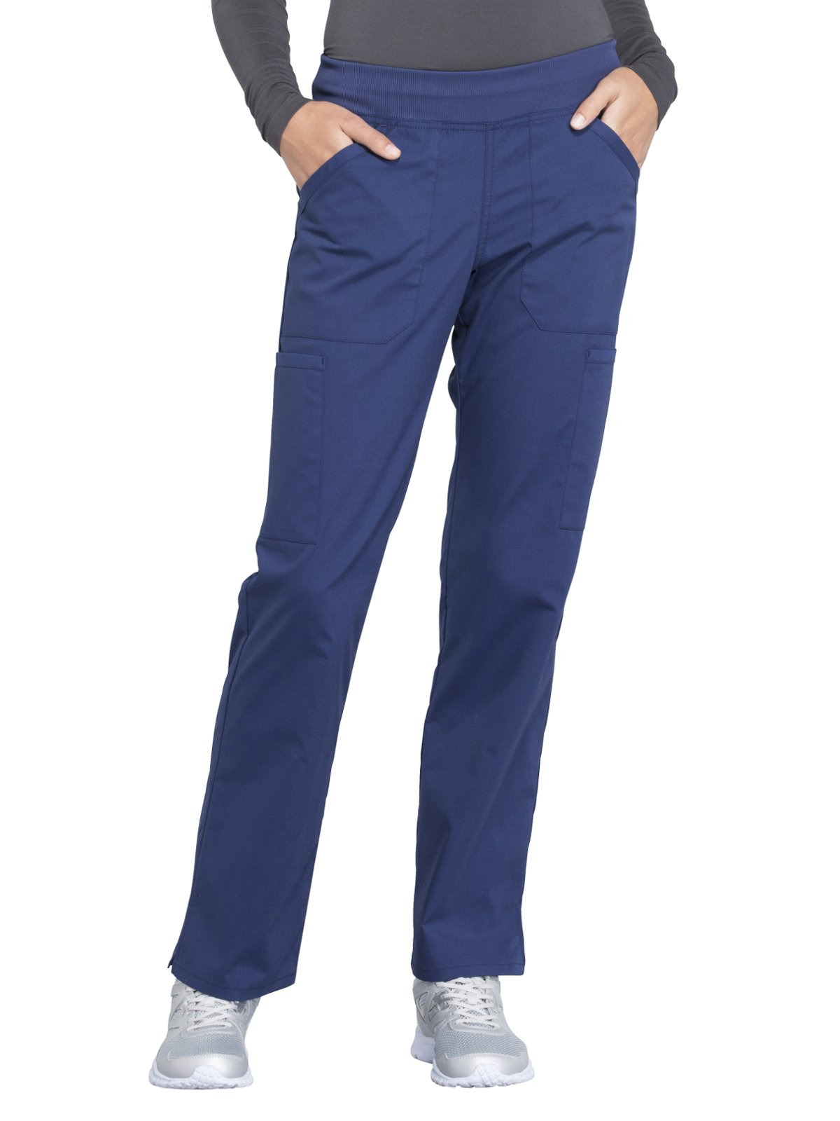 Cherokee Workwear Professionals WW170 Cargo Pant- Navy- Small Tall