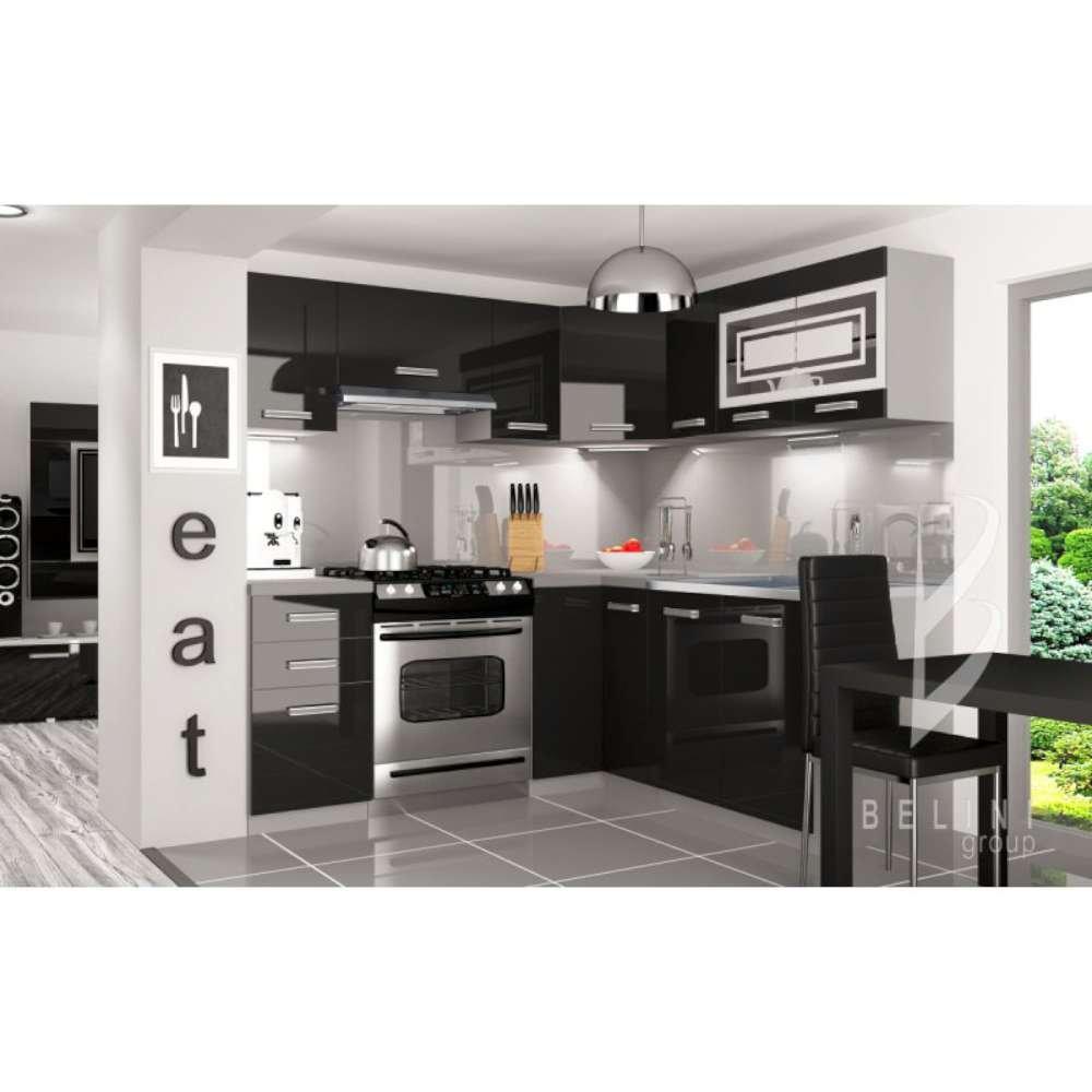 JUSThome Lidja L Pro LED L-Küche Küchenzeile Küchenblock 190x170 cm ...