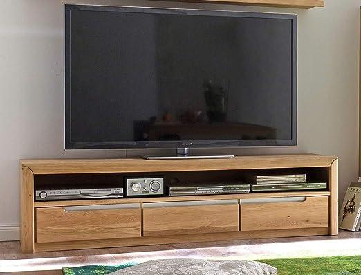 expendio lowboard pisa 8 eiche bianco massiv 165x43x46 cm tv mobel tv schrank wohnzimmer