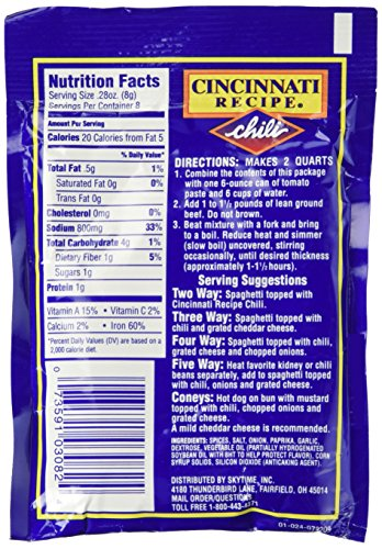 12 Pack Cincinnati Chili Mix packets by Skytime, Inc. (Image #4)