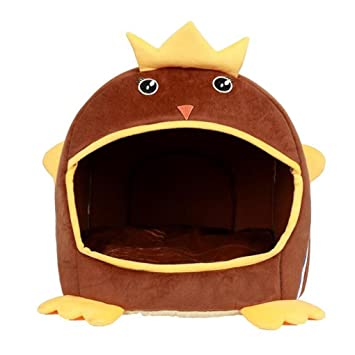 WYXIN Creative Chick 2 en 1 Pet Cave Nest Nest Bed Otoño e invierno Kennel con colchón desmontable desmontable Colchón , brown , l: Amazon.es: Productos ...