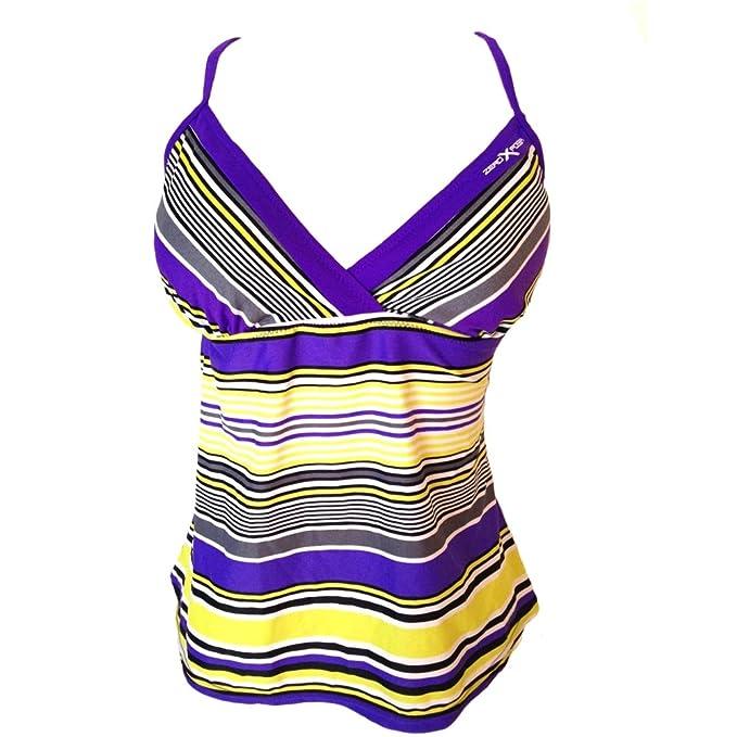 85d509dce88 ZeroXposur Women s Swimwear X Cross Back Tankini Top