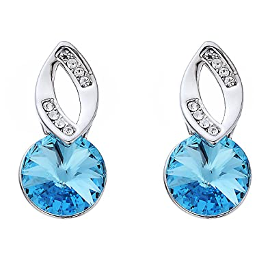 Swarovski Elements Golden Shadow Complimento Earrings Rhodium Plated - Ideal Gift for Women and Girls - Comes In Gift Box m7JOUINR