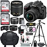 Nikon D3400 with AF-P DX NIKKOR 18-55mm f/3.5-5.6G VR, Total of 48 GB SDHC along with Deluxe Accessories Bundle Review