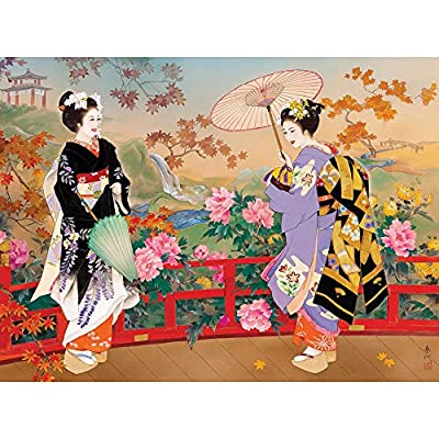 "Bits and Pieces - Higasa - Wood 1000 Piece Jigsaw Puzzles for Adults - Each Puzzle Measures 20"" X 27"" - 1000 pc Jigsaws by Artist Haruyo Morita"