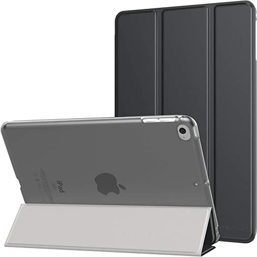 "Image ofMoKo Compatible con New iPad Mini 5th Generation 7.9"" 2019/iPad Mini 4 2015 Funda - Ultra Slim Función de Soporte Protectora Plegable para Apple iPad Mini 4 7.9 Pulgadas Tableta, Gris"