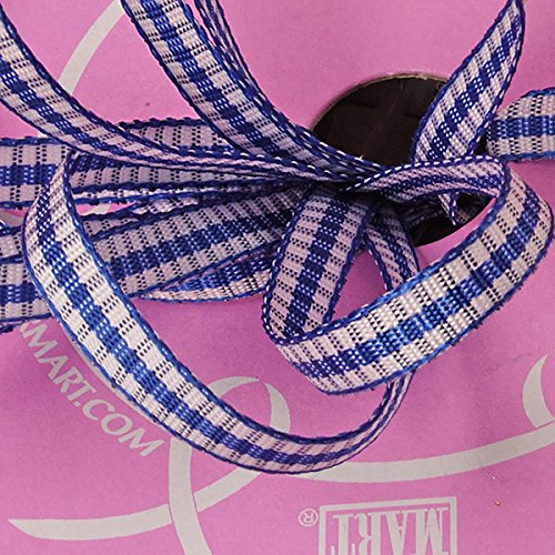 d Blue Wilma Gingham Ribbon - Greeting Cards by Paper Mart (Border Blue Gingham)