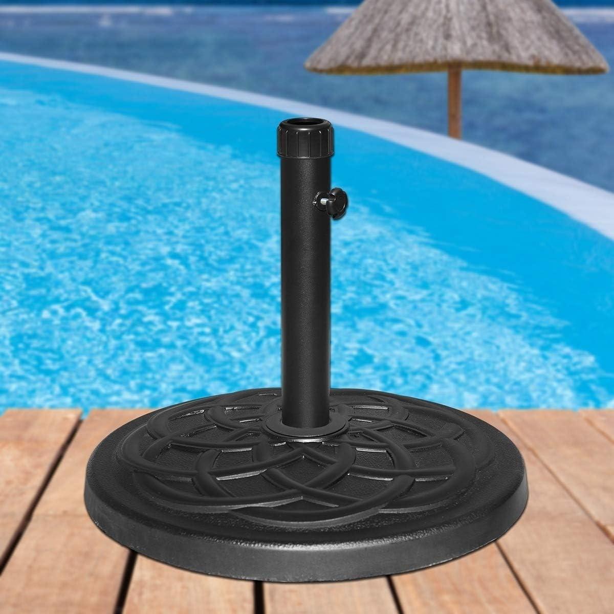 Overstock Maypex 27 LBS Heavy Duty Case Stone Umbrella Base Black