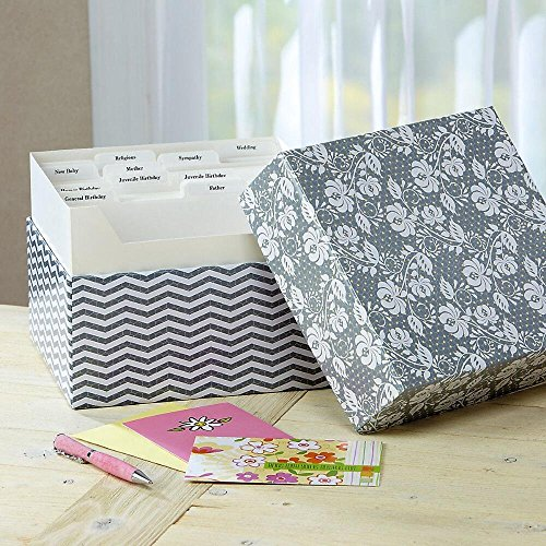 Greeting card organizer amazon grey roses greeting card organizer box stores 140 cards not included 7 x 9 x 9 12 m4hsunfo