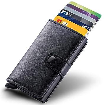 b0c6fc1cda465 Kompaktes Kreditkartenetui Kartenetui Mini-Geldbörse RFID Schutz für Bis zu  8 Karten Portemonnaie