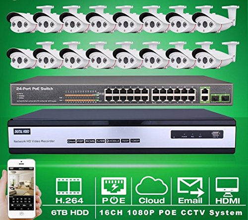 gowe-24ch-poe-switch-6tb-hdd16ch-nvr-video-recorder-system-kit-onvif-1080p-20mp-hd-h264-array-ir-out