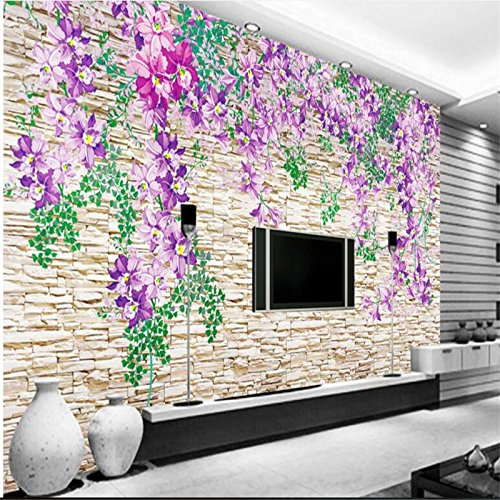 Price comparison product image Sproud Custom Wallpaper 3D Stereo Rose Flower Tv Backdrop Tide Pattern Large Wallpaper Silk Cloth Wallpaper Papel De Parede 200cmX140cm